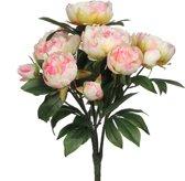 PLANT IN A BOX Kunstbloemen Pioenrozen boeket - 1 stuk - Hoogte ↕ 55 cm