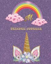 Unicorn Journal M: Activity book for the writing and drawing for girls with your favorite character