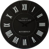 Riverdale Grand Cafe -  Wandklok - 45cm - Zwart