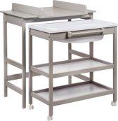 QUAX Verzorgingstafel - Luiertafel met badje - NEW SMART Griffin Grey