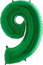 Folieballon cijfer '9 groen (100cm)