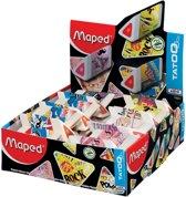 5x Maped gum Tatoo Pyramide, doos a 24 stuks