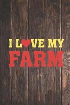 I Heart Love My Farm - Farming Farmer Journal