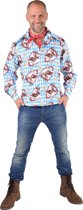 Hippie Kostuum   Flower Power Lachebekjes Hippie Hemd Man   XL   Carnaval kostuum   Verkleedkleding