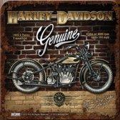 Nostalgic Art Merchandising Onderzetters - Kurk - Harley Davidson