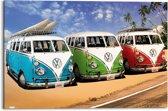 Reinders Schilderij Volkswagen busje - VW Californian Camper - Deco Panel 90 x 60 cm
