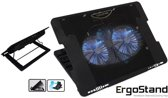 Professionele Notebook Cooling Pad | 2 Stille Cooler/ Koeler Fan | laptopstandaard | Ventilator | Laptop Koeler| Notebookstandaard | Pad voor 11 tot 17 inch laptops - Zwart