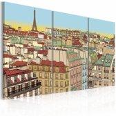 Schilderij - Sweet Paris