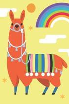 Orange Llama Sketchbook: A Sketchbook journal for kids