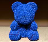 Unieke Handgemaakte Teddy Rose Bear Blauwe met Met 1000 Roosjes ( 2 CM per Roosje ) +- 40 CM