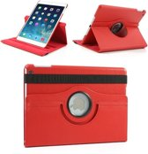 Apple iPad Air 1 - 360- draaibare Hoes - Lederen  - Rood