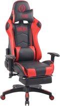 Clp Turbo XFM - Bureaustoel - Kunstleer - zwart/rood