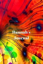 Hannah's Journal: Personalized Lined Journal for Hannah Diary Notebook 100 Pages, 6'' x 9'' (15.24 x 22.86 cm), Durable Soft Cover