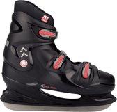 Nijdam 0099 IJshockeyschaats XXL - Hardboot - Maat 48 - Zwart/Rood