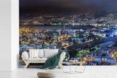 Fotobehang vinyl - Avondfoto van Beiroet in Libanon breedte 525 cm x hoogte 350 cm - Foto print op behang (in 7 formaten beschikbaar)