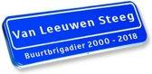 Naambordje voordeur! – Origineel straatnaambord – Naambord met eigen tekst in/onder kader 50 x 15 cm