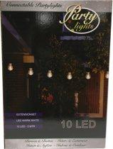 Partylights Uitbreidingsset - Koppelbaar - Buiten - 10 LED - Warm wit - 5m