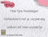 Stempel Nederlandse Tekst - Feestdagen, verjaardag, geboorte