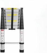 Telescopische ladder - 15 treeds - Werkhoogte 4.40m - Aluminium