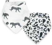 Jollein Leopard Slab bandana hydrofiel Leopard (2pack)