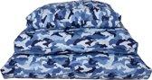 Lobbes Hondenkussen Legerblauw 90 x 125 x 10 cm