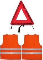 2x Veiligheidshesje - One Size fits all  + Gevarendriehoek