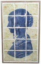 MAR10 Wand Decoratie Digne Blauw 53cm Hout