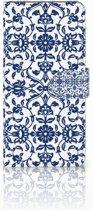 Huawei Mate 20 Pro Uniek Boekhoesje Flower Blue