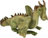 Pluche knuffel draak groen 30 cm