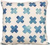 Sierkussen Blauwe Kruisjes Vierkant