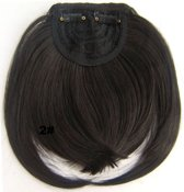 Pony Clip in Hair Extensions  kleur 2 Donkerbruin