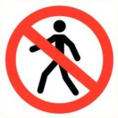 ATV Safety Verboden voor voetgangers 300mm Vinyl 357