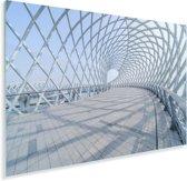 De brug in het Chinese Suzhou Plexiglas 120x80 cm - Foto print op Glas (Plexiglas wanddecoratie)