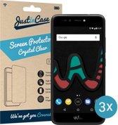 Just in Case Screen Protector voor Wiko U Pulse Lite - Crystal Clear - 3 stuks