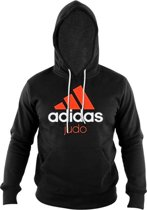 Adidas Community Hoodie Judo Unisex Zwart/rood Maat Xl