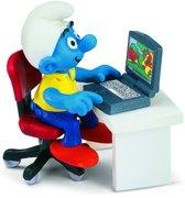Smurf Met Laptop