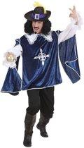 Musketier Kostuum | Musketier Dartagnan En Garde Blauw Kostuum Man | XL | Carnaval kostuum | Verkleedkleding