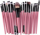 Professionele 20-Delige Make Up Kwasten Set - Cosmetica Visagie Makeup Brushes