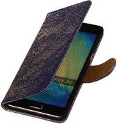 Mobieletelefoonhoesje.nl - Samsung Galaxy A5 Hoesje Bloem Bookstyle Blauw