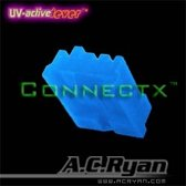 AC Ryan Connectx™ Floppy Power 4pin Female - UVBlue 100x Blauw