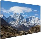 Uitzicht op de Himalaya Canvas 60x40 cm - Foto print op Canvas schilderij (Wanddecoratie)