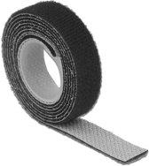 DeLOCK Klittenband rol - lengte 1m / breedte 13mm - zwart
