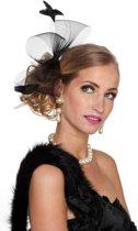 Haarband veren luxe zwart