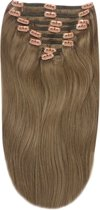 Remy Human Hair extensions Double Weft straight 22 - bruin 9#