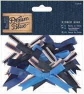 Linten Strikken  (12stuks) - Denim Blue