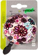 Widek Ding Dong - Fietsbel - 60 mm - Art Collection Floral - Paars