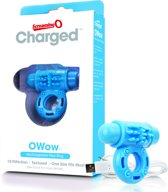 The Screaming O Charged OWow Vooom Mini Vibrerende Cockring - Blauw