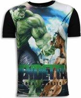 Local Fanatic Vendetta - Digital Rhinestone T-shirt - Zwart - Maten: S