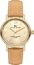 River Woods RW340033 Wisconsin horloge Vrouwen - Bruin - Leer 34 mm