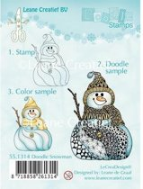 LeCrea - Doodle stempel Snowman 55.1314